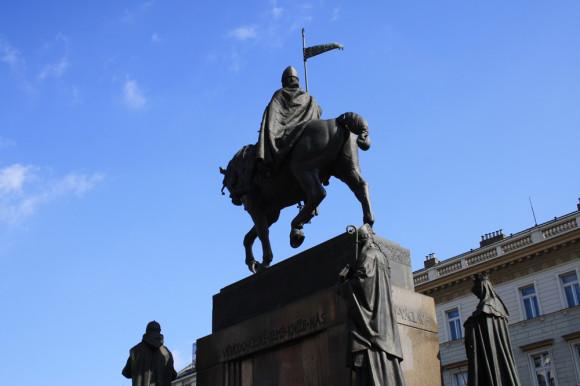 Памятник св. Вацлаву в Праге