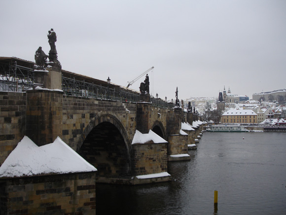 Зимняя Прага - Карлов мост