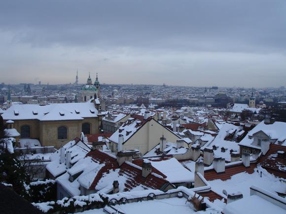 Зимняя Прага - крыши