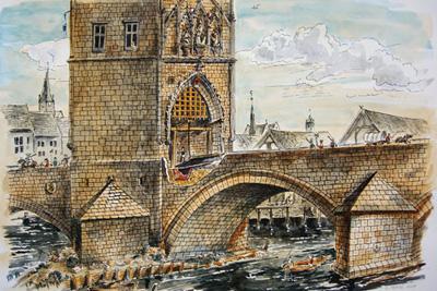 Ров на Карловом мосту