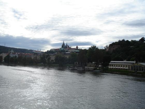 Вид на Пражский Град с Чехува моста