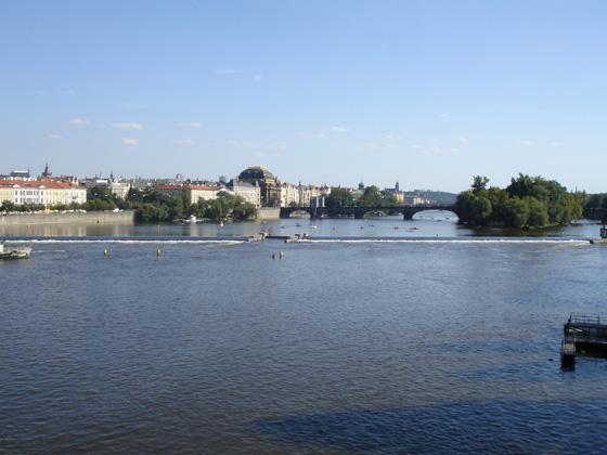 Влтава с Карлова моста