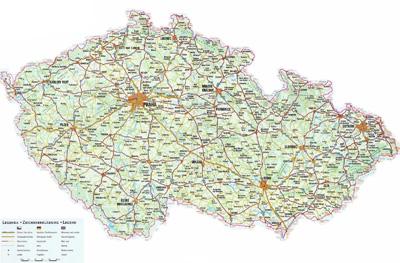 Автомобильная карта Чехии