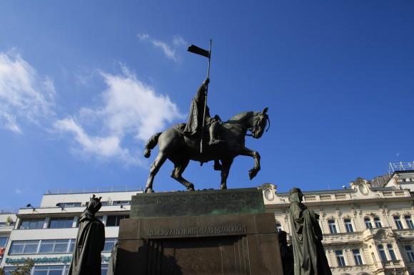 Фото Праги. Памятник св. Вацлаву