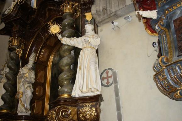 Фото Праги. Часть интерьера костела Девы Марии Снежной