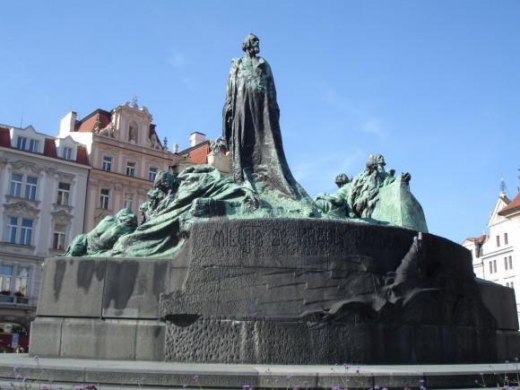 Фото Праги. Памятник Яну Гусу на Старомаке