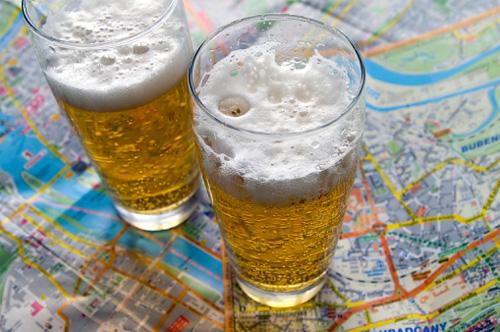 Карта чешских пивоваров